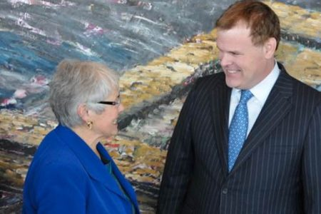 Photo: National President Betty Anne Brown Davidson and The Hon. John Baird, minister of Foreign Affairs