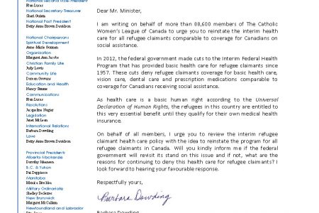 A Letter to the Hon. Christopher Alexander, federal minister of citizenship and immigration