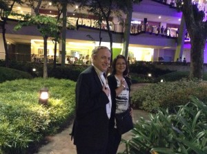 Archbishop Miller and Ivy Barcelon in Cebu! Tropical evening and great Italian diner. Thanks Greg and Ivy!