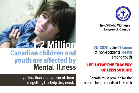 Early intervention and access to children and youth mental-health postcard