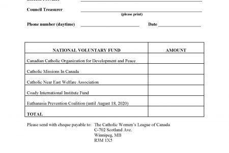 August 2016 National Voluntary Fund Remittance Forms