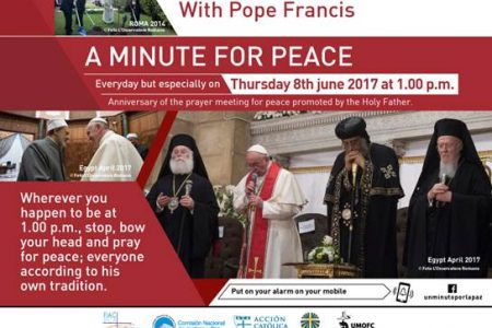 A Minute for Peace with Pope Francis - June 8, 2017