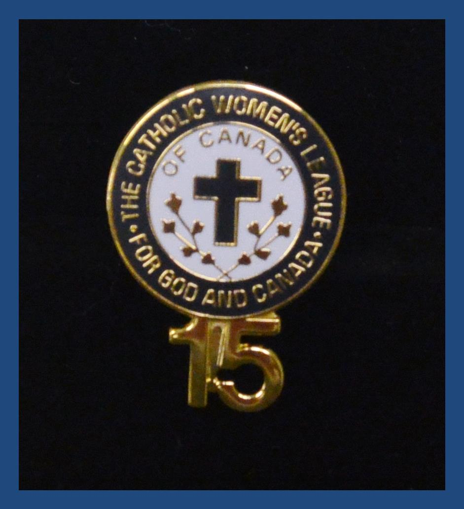 200 Series Certificates And Pins The Catholic Womens League Of